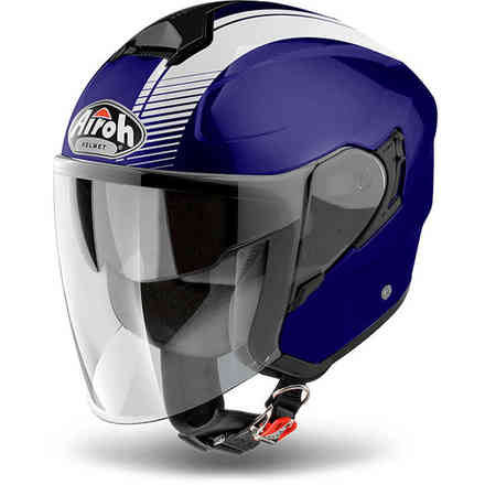 Hunter Simple Blue Helmet Airoh