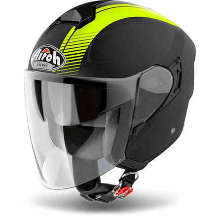 Hunter Simple yellow Helmet Airoh