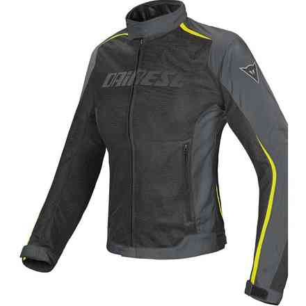 Hydra Flux Lady  D-Dry  jacket black gray yellow fluo Dainese