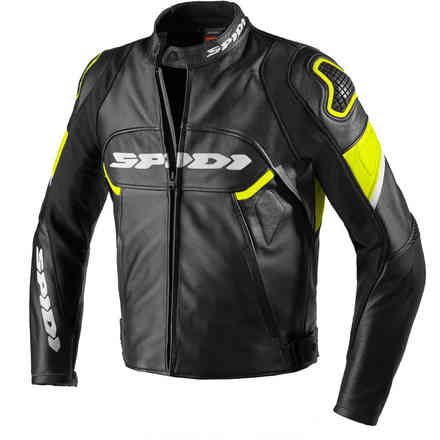 Ignite leather jacket Black yellow Fluo Spidi