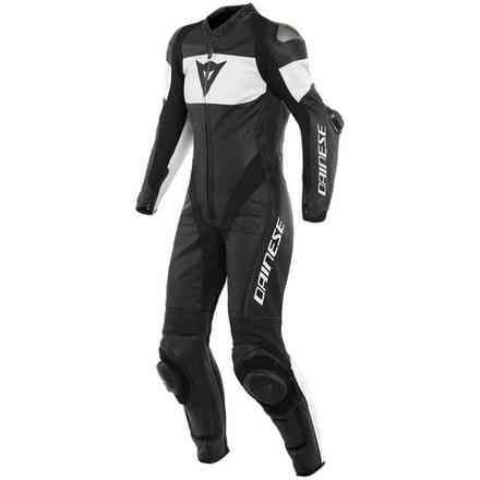 Imatra Lady 1pc leather suit Perforated Black/White Dainese