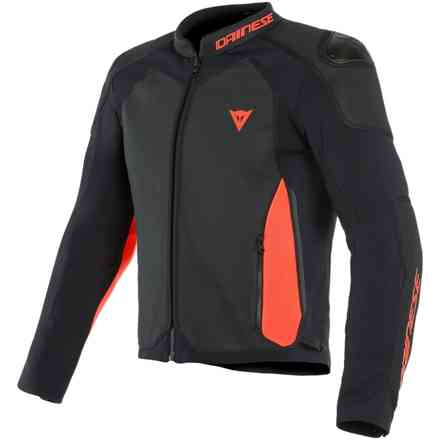Intrepida Perforated jacket black red fluo matt Dainese