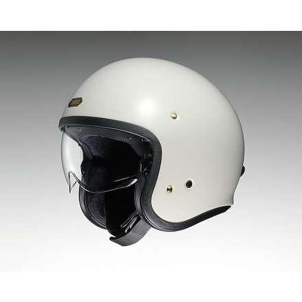 J-O Off White Helmet Shoei