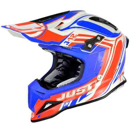 J12 Flame Rot-Blauer Helm Just1