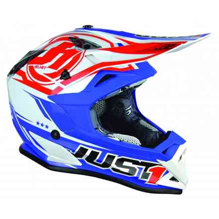 J32 Pro Rave Red/Blue Helmet Just1