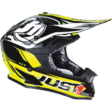 J32 Pro Rave yellow black Helmet Just1