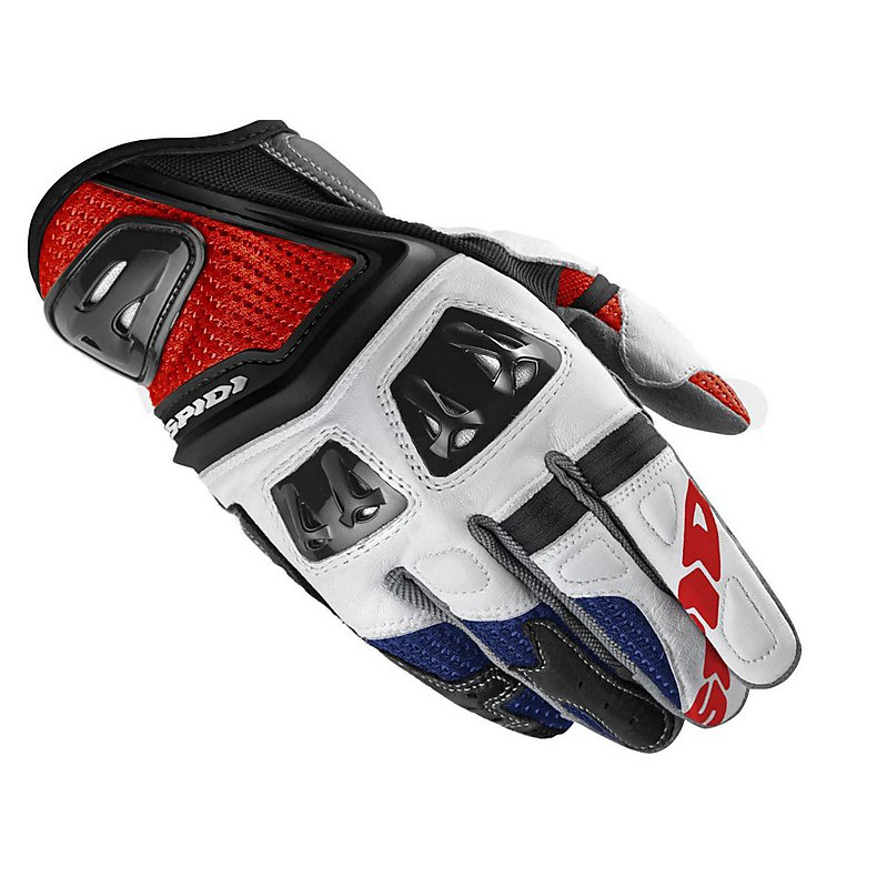 Jab RR Gloves white-light blue Spidi
