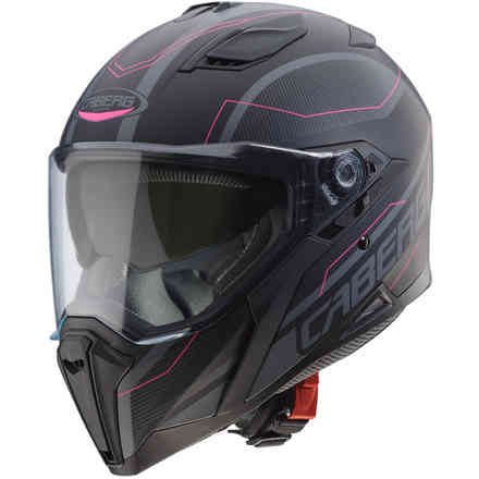 Jackal Supra Matt Black anthracyte pink Caberg