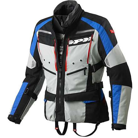 Jacke 4 Season h2Out Blau-Schwarz Spidi