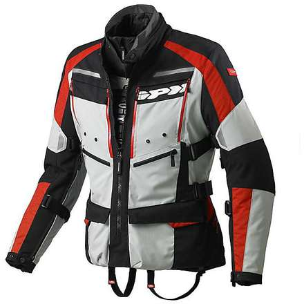 Jacke 4 Season h2Out Grau-Rot Spidi
