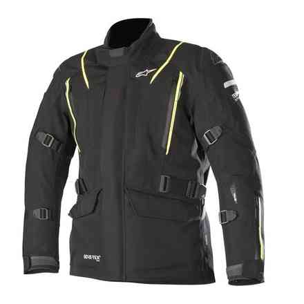 Jacke Big Sur Gtx Pro Tech Air Kompatible Schwarz Gelb fluo Alpinestars