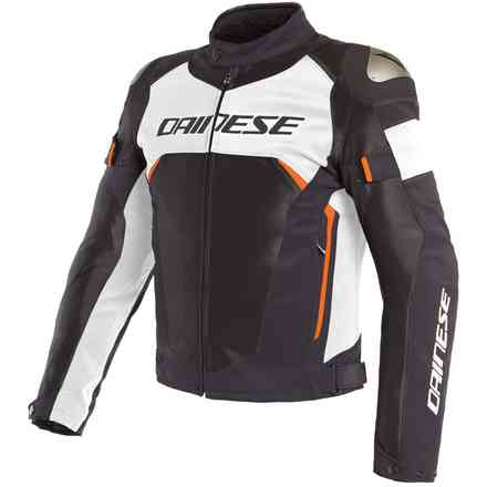 Jacke Dinamica Air D-Dry schwarz Weiss Rot fluo Dainese
