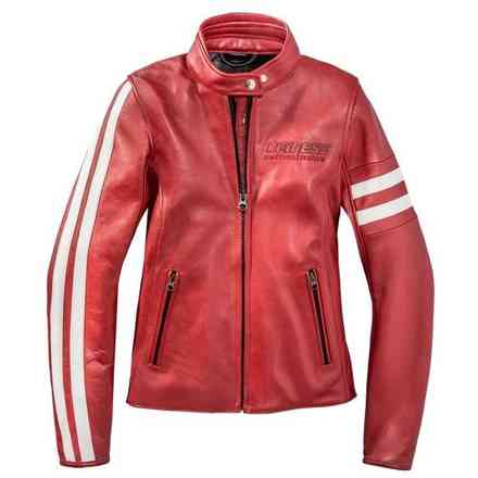 jacke Freccia72 Lady Rot Weiss Dainese