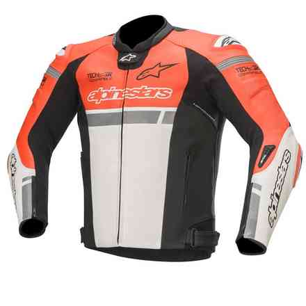 Jacke Missile Ignition Tech-Air Rot fluo Weiss Schwarz Alpinestars
