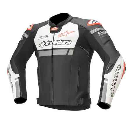 Jacke Missile Ignition  Tech-Air Schwarz White Rot Alpinestars