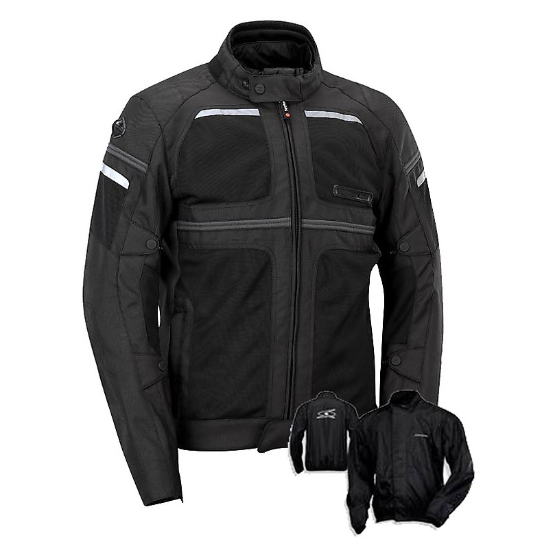 Jacke Mystraal Air black Spyke