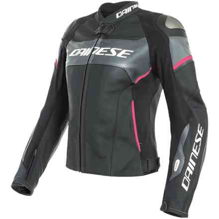 Jacke Racing 3 D-Air Lady Schwarz Antrazyt Fuxia Dainese