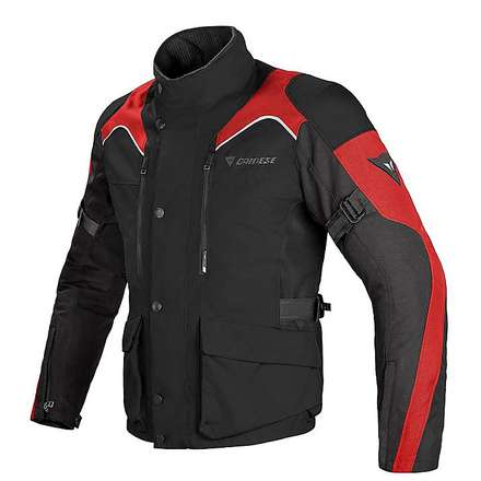 Jacke Tempest d-dry Schwarz-rot Dainese