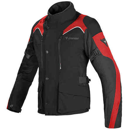 Jacke Tempest Lady D-Dry Schwarz Rot Dainese