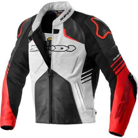 Jacket Bolide Perforated Black Red Spidi