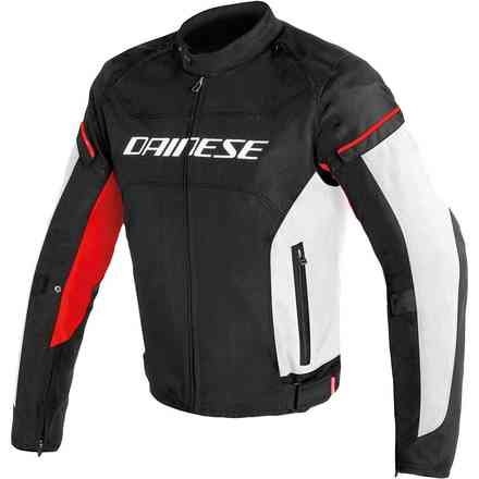 Jacket D-Frame Tex black white red Dainese