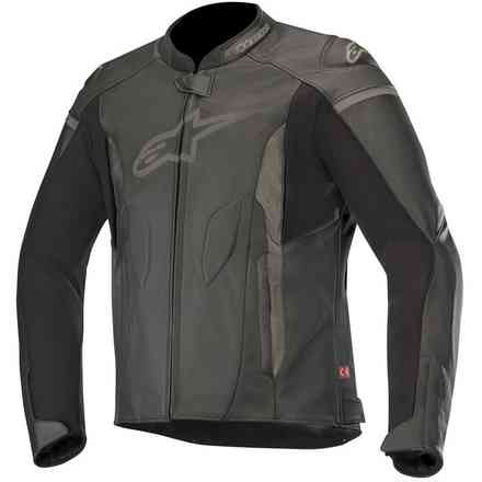 Jacket Leather Faster Black Alpinestars
