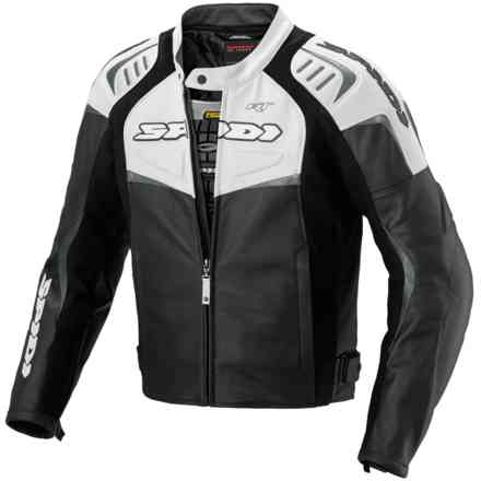 Jacket R/T Leather Black White Spidi