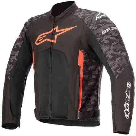 Jacket T-Gp Plus R V3 Air Black Camo Red Fluo Alpinestars