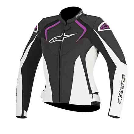 Jaws lady black white fuchsia Jacket  Alpinestars