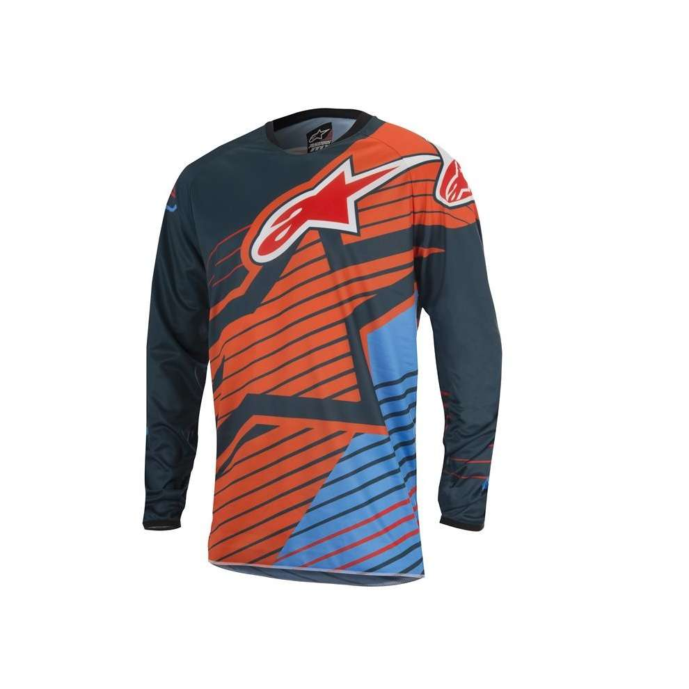 Jersey croix Youth Racer Braap 2017 orange bleu Alpinestars