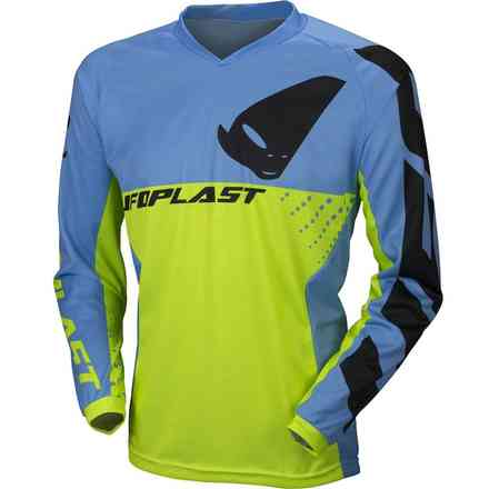Jersey Cross Division Gelb Fluo Blau Ufo