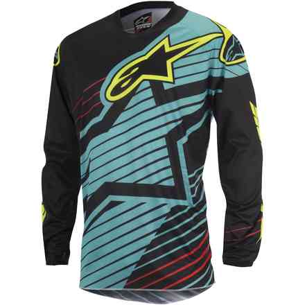 Jersey cross Racer Braap 2017 blue-black-yellow Alpinestars