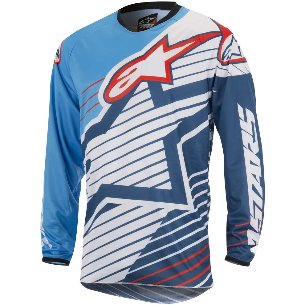 Jersey cross Racer Braap 2017 blue-white Alpinestars