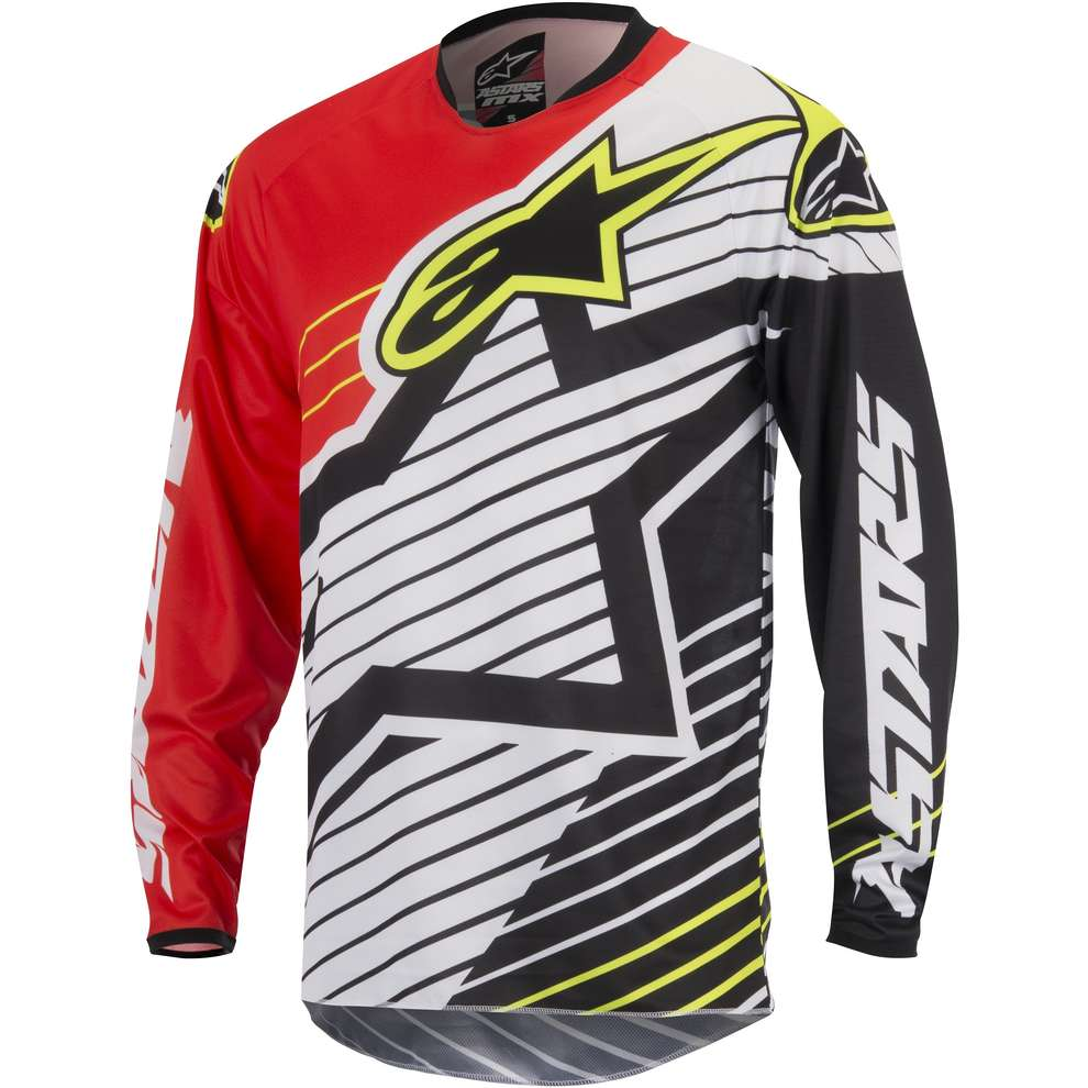 Jersey cross Racer Braap 2017 red-white-black Alpinestars