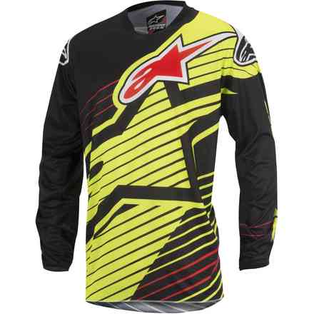 Jersey cross Racer Braap 2017 yellow-black Alpinestars