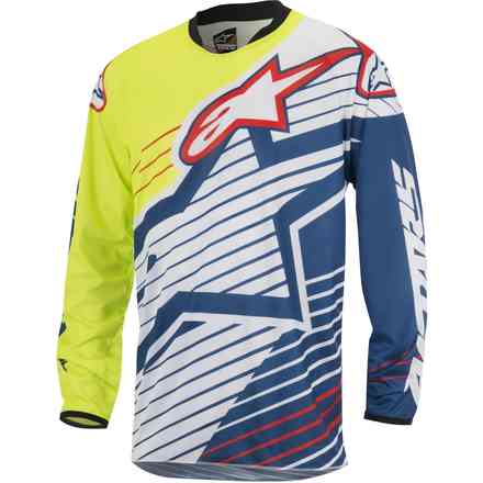 Jersey cross Racer Braap 2017 yellow-white-blue Alpinestars