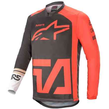 Jersey Cross Racer Compass Anthracite Red Fluo White Alpinestars