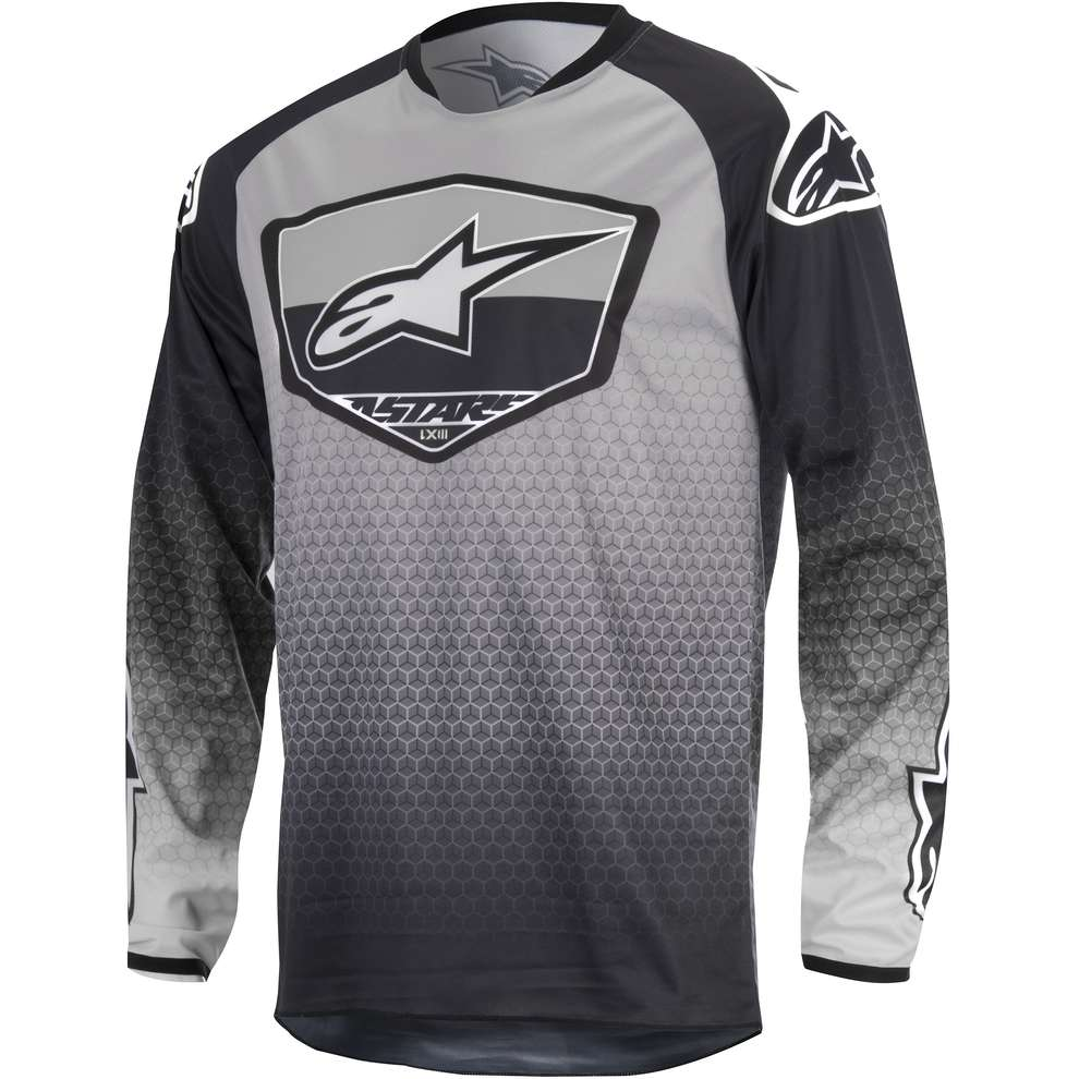 Jersey cross Racer Supermatic black-light grey Alpinestars