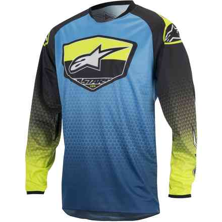 Jersey cross Racer Supermatic blue-yellow Alpinestars