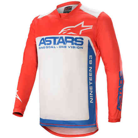 Jersey Cross Racer Supermatic Brigth Red Blue Off White Alpinestars