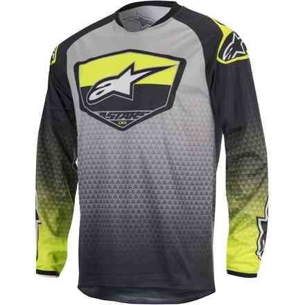 Jersey cross Racer Supermatic grey-yellow Alpinestars