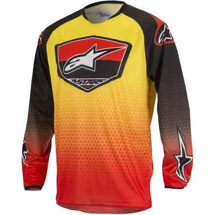 Jersey cross Racer Supermatic red-black-yellow: Alpinestars
