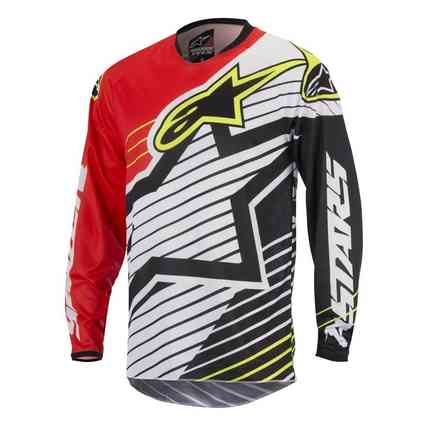 Jersey cross Youth Racer Braap 2017 red-white-black Alpinestars