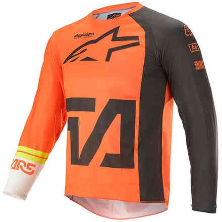 Jersey Cross Youth Racer Compass Orange Anthracite Off White Alpinestars