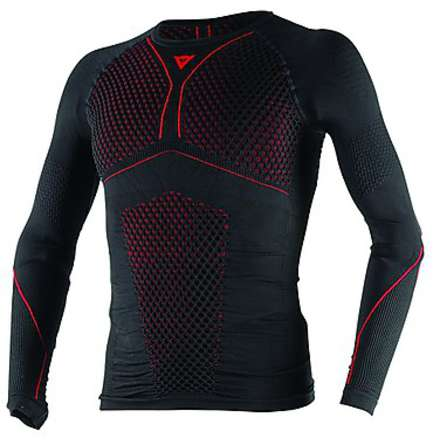 Jersey  D-Core Thermo Tee LS Schwarz-Rot Dainese