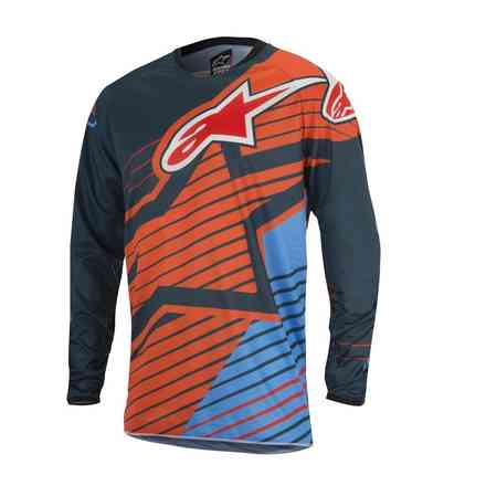 Jersey Kreuz Youth Racer Braap 2017 orange blau Alpinestars