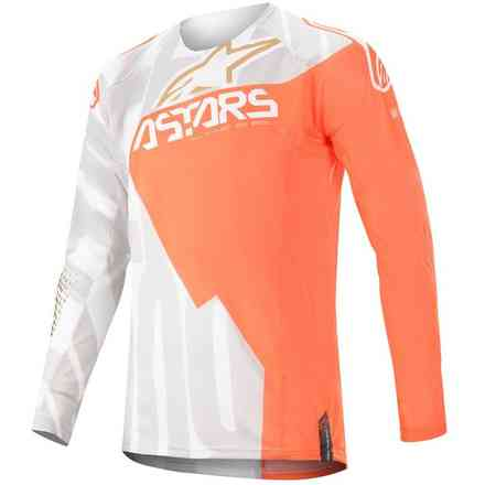 Jersey Techstar Factory Metal Weiß Orange Fluo Gold Alpinestars