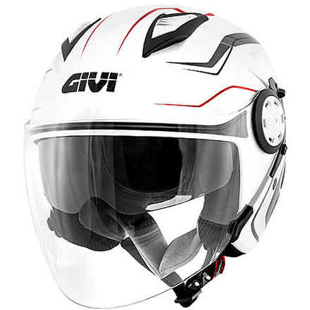 Jet 12.3 Stratos Flux helmet white red Givi