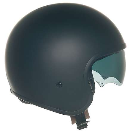 Jet 70's Plain matt black Helmet Suomy