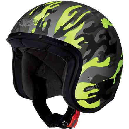 Jet Commander green matt-yellow fluo Helmet  Caberg